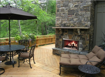 Carolina outdoor gas fireplace in Boise Nampa and Caldwell