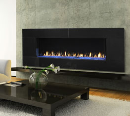 Heat and Glo Designer series gas fireplace