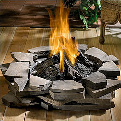 Outdoor gas firepit in Boise Nampa and Caldwell