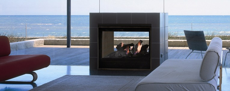 Twilight II indoor/outdoor gas fireplace in Boise Nampa and Caldwell