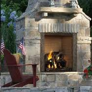Castlewood outdoor wood fireplace in Boise Nampa and Caldwell