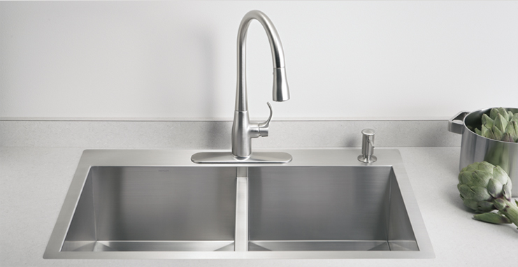 Boise plumbers install kitchen sink
