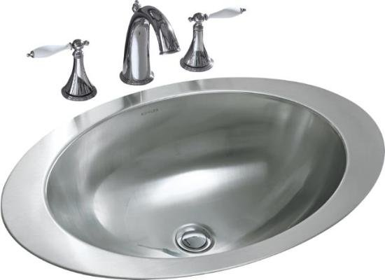 Stainless steel bathroom sink