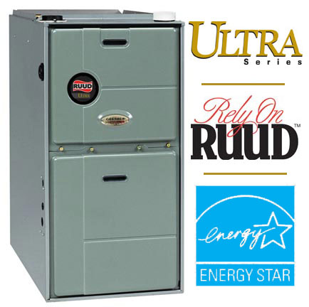 RUUD Modulating gas furnace